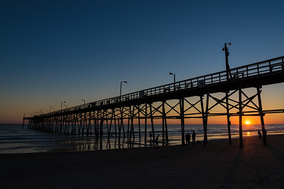 Sunset by the Oak Island Pier