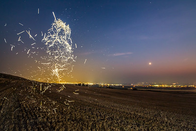 Wheat Chaff at Night