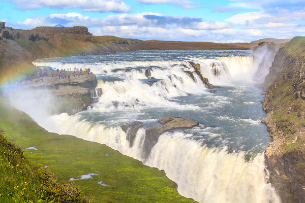 Gullfoss, The most famous waterfall in Iceland