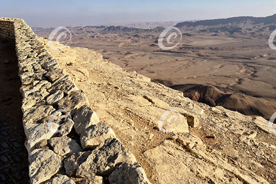 Makhtesh Ramon Crater in the Negev Desert