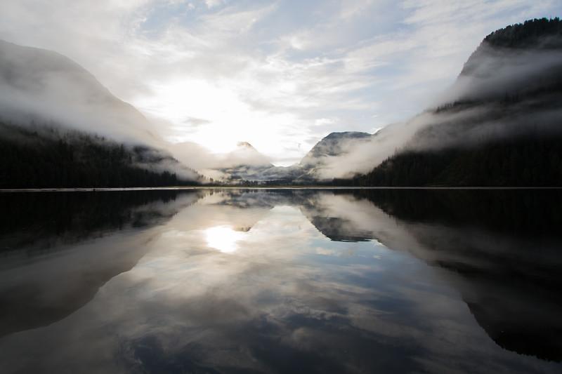 Dead Calm Dawn at Khutze Inlet.
