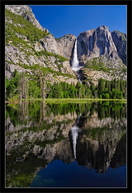 Yosemite Falls & Flooded Meadows