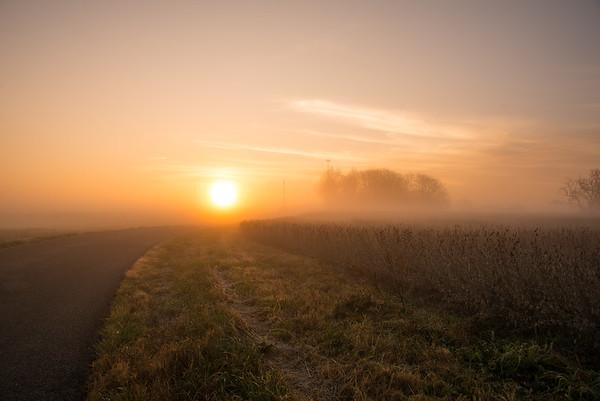 Sunrise and Farm LIfe