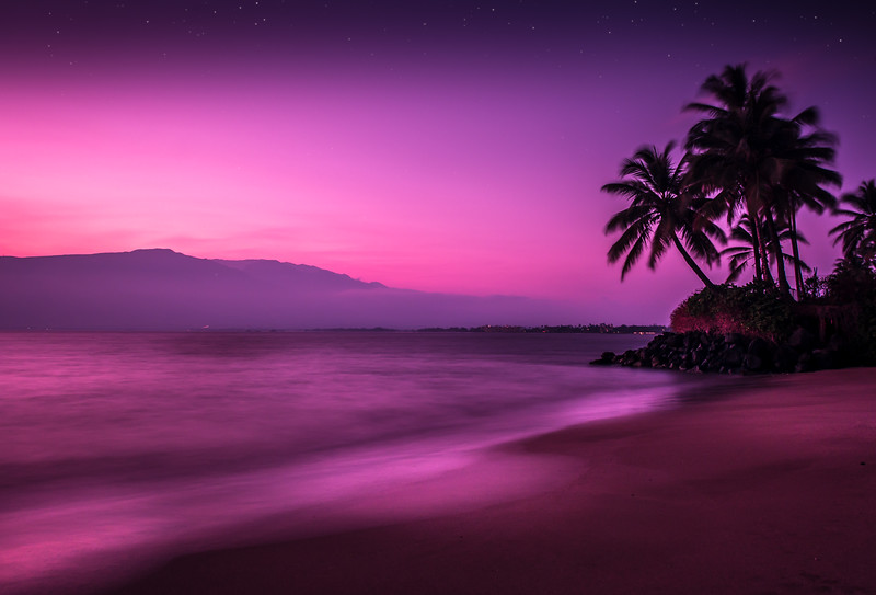 Kalepolepo Beach At Twilight Maui