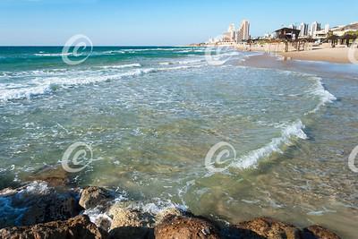 The Carmel Beach at Haifa, Israel