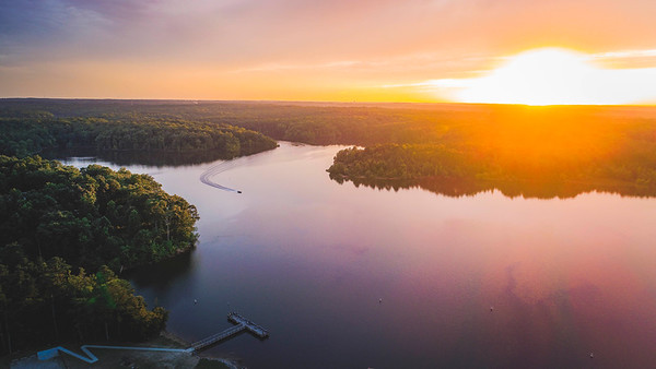Sunset Over Falls Lake - Raleigh, NC