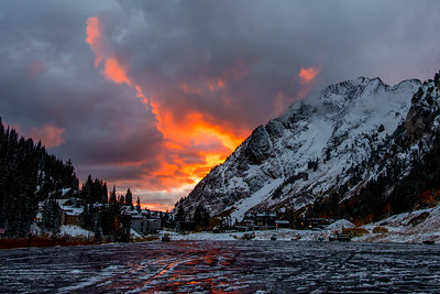 Alta Parking Lot in October