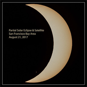 Partial Solar Eclipse & Satellite