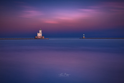 Milwaukee Breakwater Lighthouse.