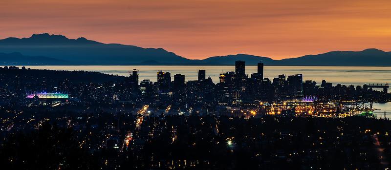 Burnaby Mountain cityscape