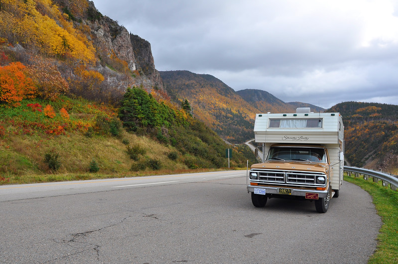 Vintage RV on the Cabot Trail - Cape Breton, Nova Scotia