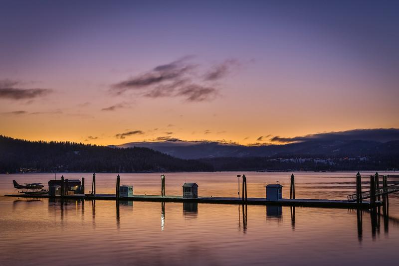 Sunset at Lake Coeur d'Alene