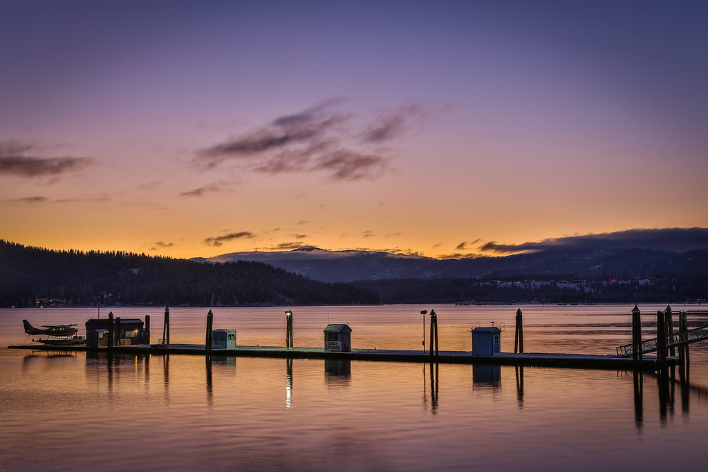 Sunset at Lake Coeur d'Alene
