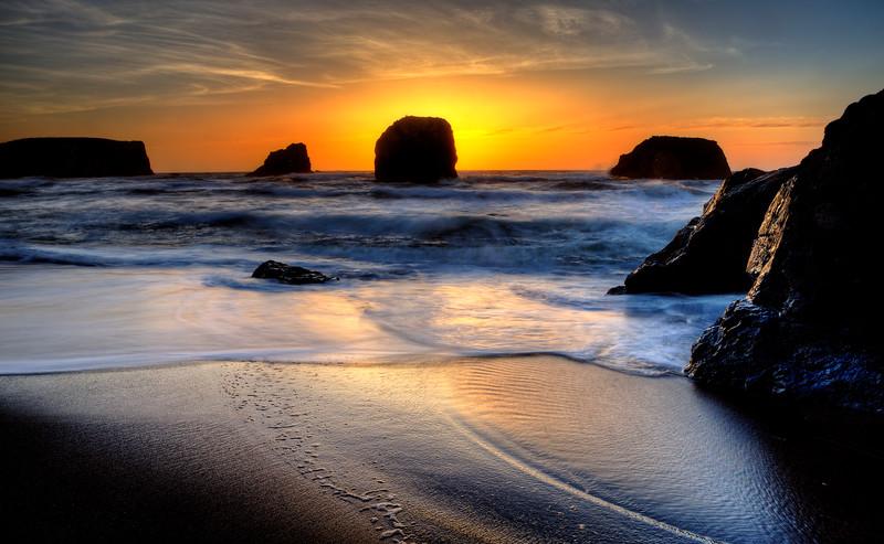 Sunset Bandon Oregon