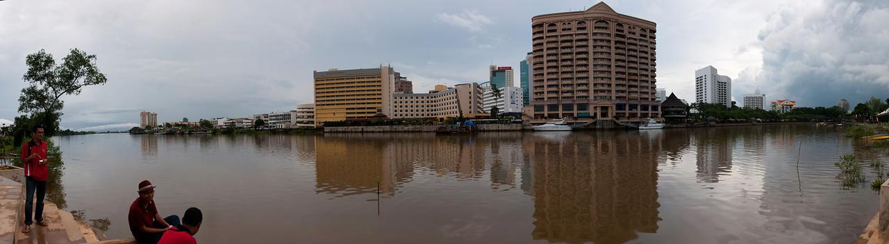 Kuching Waterfront Panorama