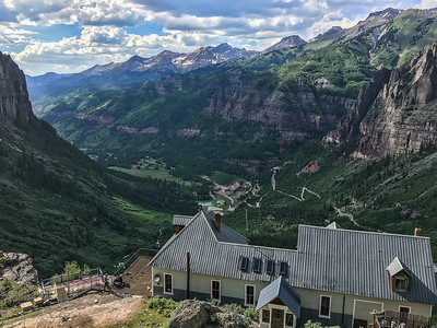High atop of Telluride looking down on the old Pandora Mine