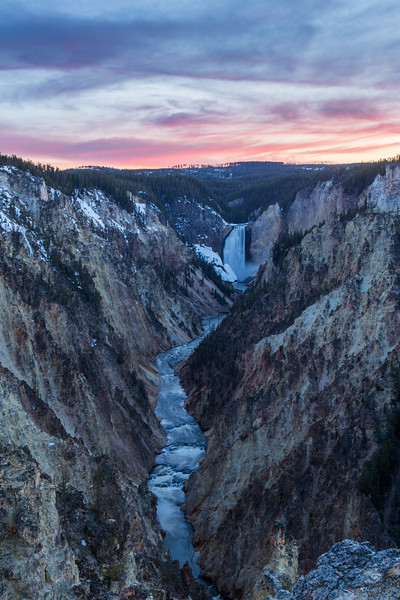 Lower Falls in Grand Canyon of Yellowstone National Park