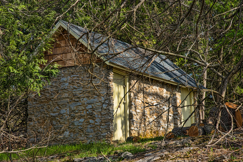 Stone Shed in Woods