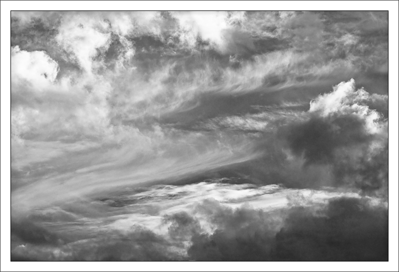Cloud Variety  Patterns of clouds in the afternoon sky  SF Bay Area, California  05-NOV-2010