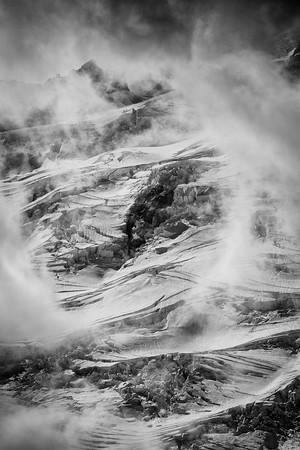 Storm clouds over Emmons Glacier, Mount Rainier