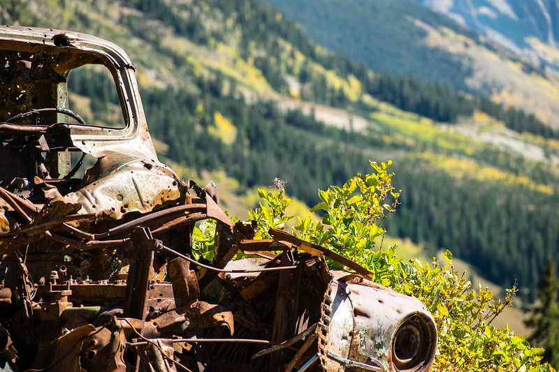 Old rusted truck in the mountains of Colorado