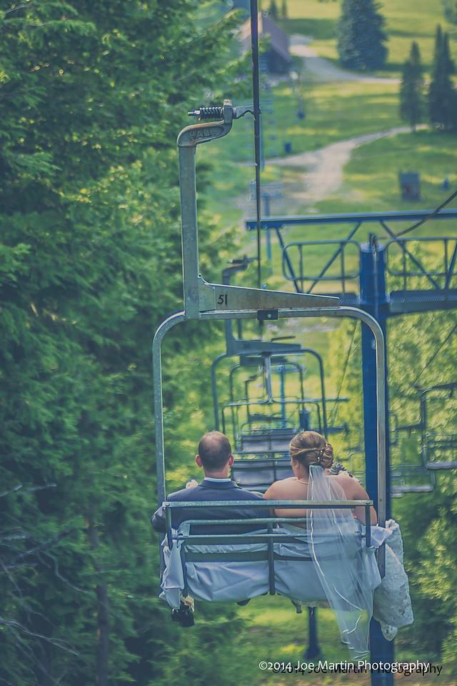 The Long Ride Down Form A Mountain Top Wedding