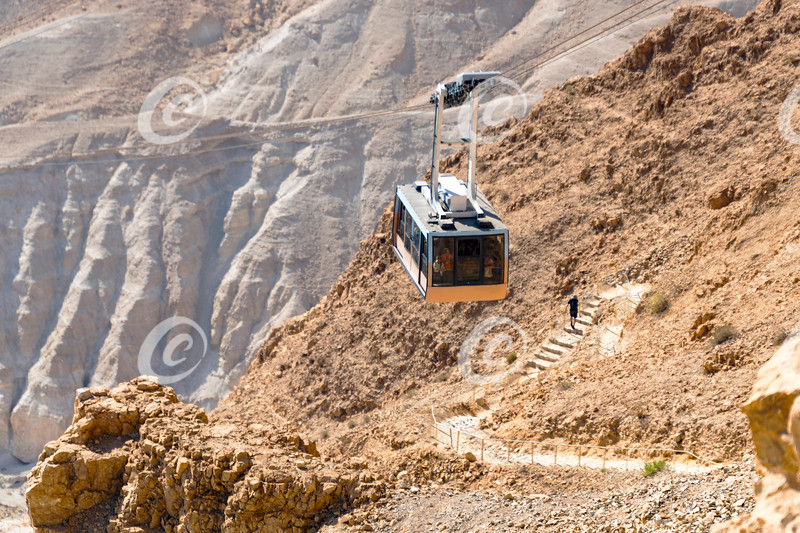 Two Routes to the Masada Fortress in Israel