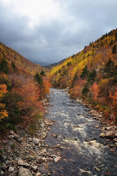 Fall Colours on the MacKenzie River, Cabot Trail, Cape Breton, Nova Scotia