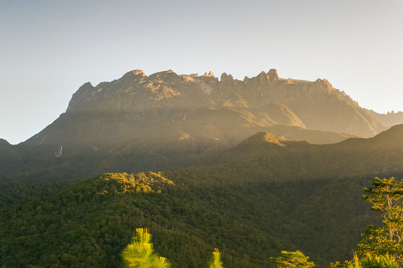 Mount Kinabalu. HDR from 3 images. Merged in Photomatix and finished in LR4.