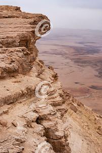 Closeup of Ramon Crater Cliff