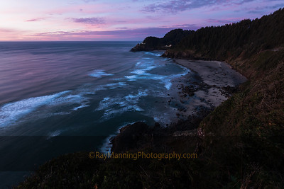 Dusk at Heceta Head