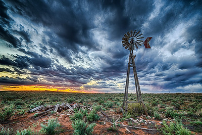 Windmill on the high plains