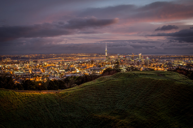 Auckland City from the top of Mount Eden