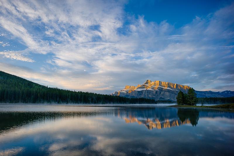 Mountain Reflection at Two Jack Lake
