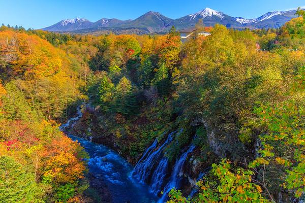 Shirahige Waterfall, Biei, Hokkaido