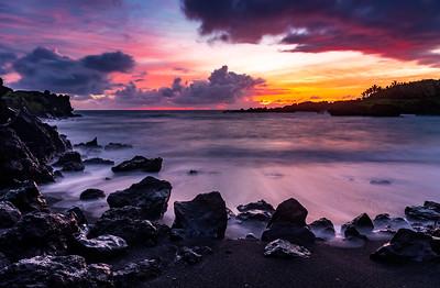 Black Sand Beach Sunrise