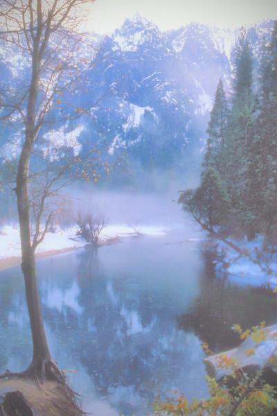 Merced River in Fog