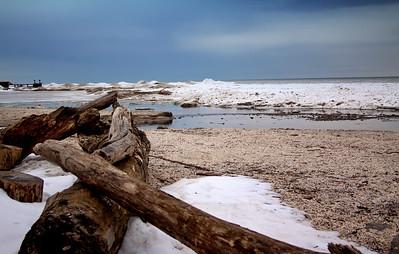 Winter Beach Lake Ontario