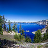 The Blue Water of Crater Lake