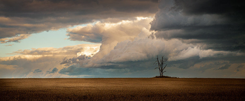 Chasing storm clouds in Wainfleet, Ontario