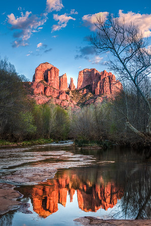 Cathedral Rock with Reflection