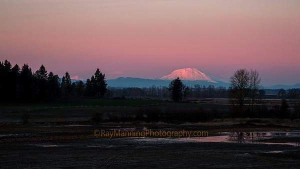 Mount Saint Helens and Mount Rainier