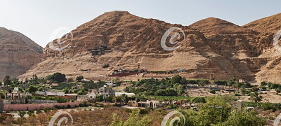 The Mount of the Temptation of Jesus in Jericho in Palestine