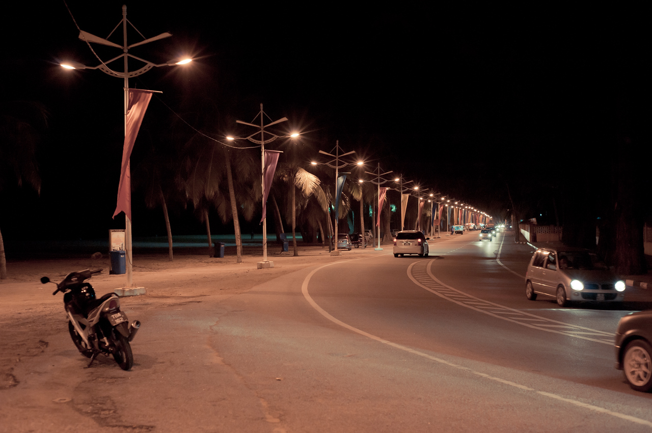 Batu Burok Beach At Night