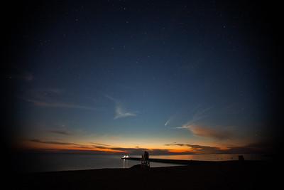 Comet over Lake Ontario