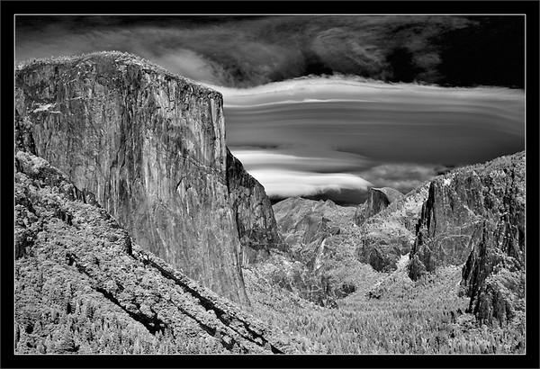 Lenticular Clouds Over Yosemite