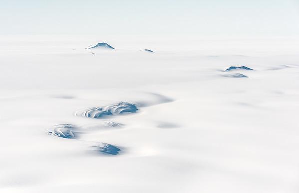 Ice ripples in the Rambo Nunataks, Pensacola Mountains, S85º, Antarctica
