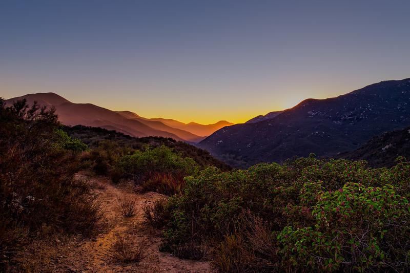Sunset over Ortega