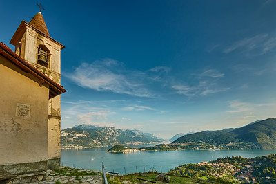 San Martino Church, perched over Griante, Italy