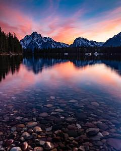 Sunset of Mount Moran